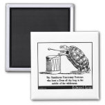 The Tumultuous Tom-tommy Tortoise 2 Inch Square Magnet