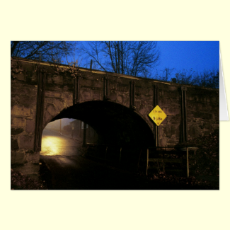The Tunnel I - Magical World Beyond the Tunnel Greeting Card