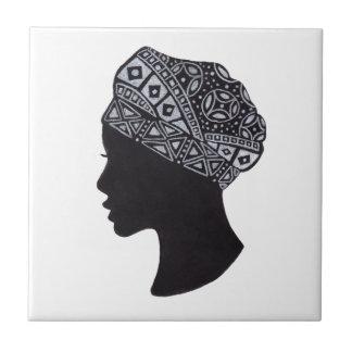The Turban African Woman Tile