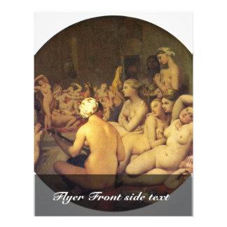 "The Turkish Bath (Tondo) By Ingres Jean Auguste Do 8.5"" X 11"" Flyer"