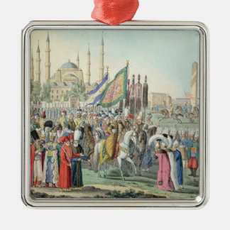 The Turkish Sultan reviewing his Janissaries (engr Metal Ornament