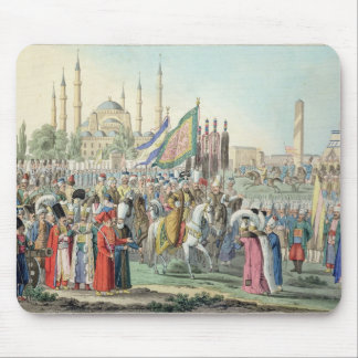 The Turkish Sultan reviewing his Janissaries (engr Mouse Pad