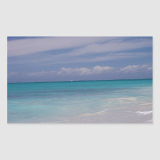 The Turks & Caicos - the Beach! Rectangle Sticker