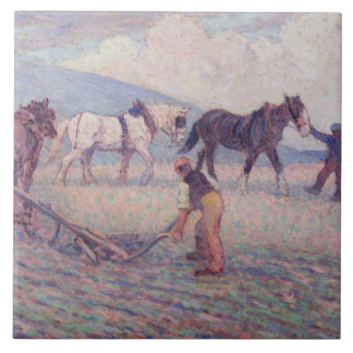 The Turn-Rice Plough, c.1909 (oil on canvas) Ceramic Tile