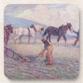 The Turn-Rice Plough, c.1909 (oil on canvas) Coaster