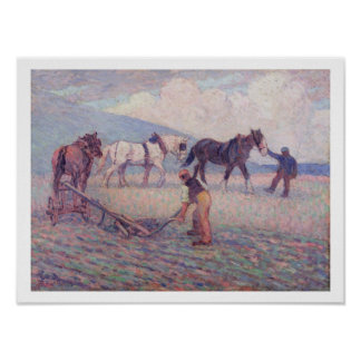 The Turn-Rice Plough, c.1909 (oil on canvas) Poster