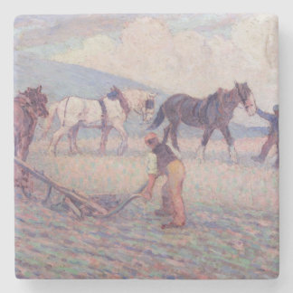 The Turn-Rice Plough, c.1909 (oil on canvas) Stone Coaster