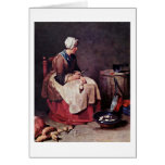 The Turnip Cleaner By Jean-Baptiste Chardin Greeting Card