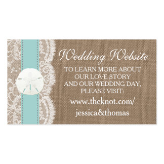 The Turquoise Sand Dollar Beach Wedding Collection Business Card