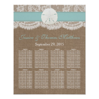 The Turquoise Sand Dollar Beach Wedding Collection Poster