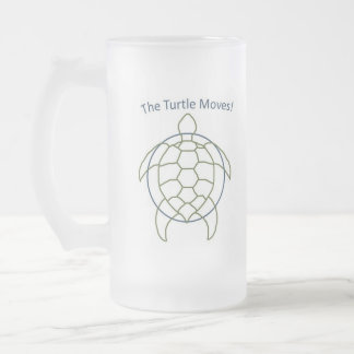 The Turtle Moves! Frosted Glass Beer Mug