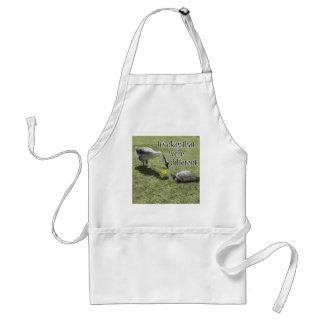 The Turtle & The Goose (w/Text) Adult Apron