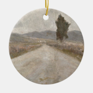 The Tuscan Road, c.1899 (board) Christmas Tree Ornament