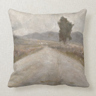 The Tuscan Road, c.1899 (board) Throw Pillow