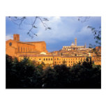 The Tuscan village of Sienna, Italy. Post Card