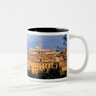 The Tuscan village of Sienna, Italy. Two-Tone Coffee Mug