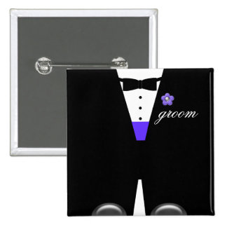 The Tux* ~ MAKE IT ANY NAME, ANY COLOR!* Pinback Button