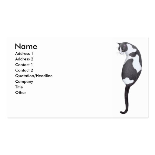 The Tuxedo Cat Business Card