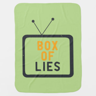 The Tv set is just a Box of lies Receiving Blanket