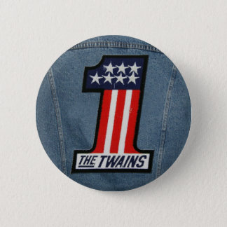 The TWAINS 1 Up Button! Pinback Button