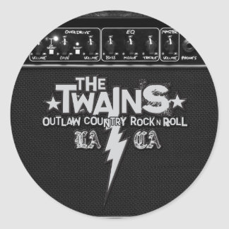 The Twains Amped-Up Stickers! Classic Round Sticker