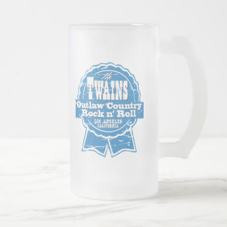 The TWAINS Beer Drinkin' Device! 16 Oz Frosted Glass Beer Mug