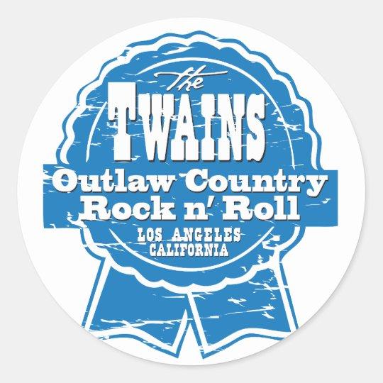The TWAINS beer drinkin' stickers! Classic Round Sticker