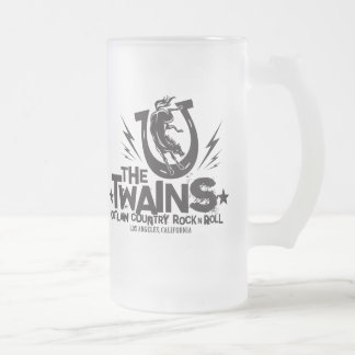 The Twains Crazy Horse Frosted Mug! Frosted Glass Beer Mug
