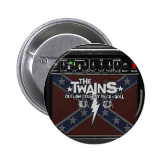 The TWAINS Dixie Amp Button! 2 Inch Round Button
