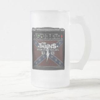 The TWAINS Dixie Amp Frosted Mug! Frosted Glass Beer Mug