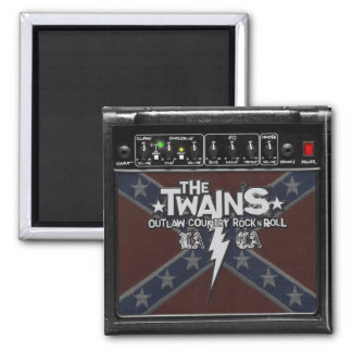 The TWAINS Dixie Amp Magnet! 2 Inch Square Magnet