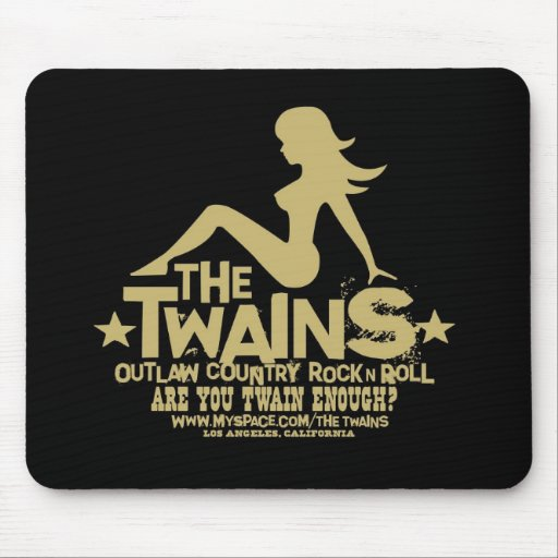 The TWAINS Mudflap Girl Logo Mousepad!