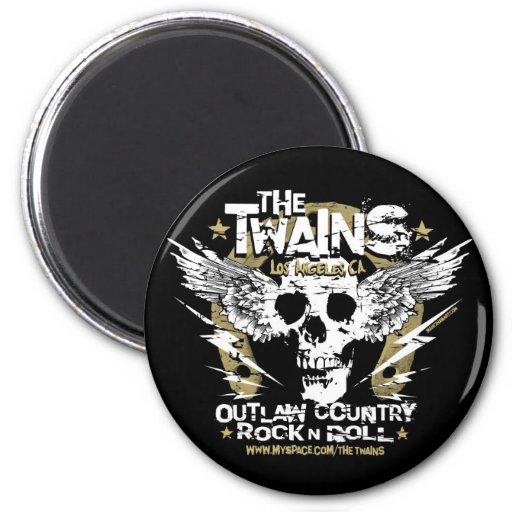 The TWAINS Skull n' Horseshoe Magnet