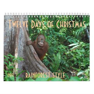 The Twelve Days of Christmas by orangutans Calendar