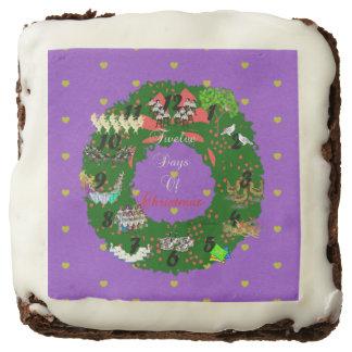 The Twelve Days of Christmas Chocolate Brownie