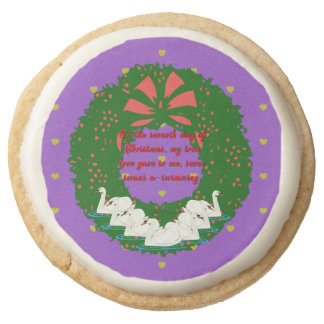 The Twelve Days of Christmas Collection: Day Seven Round Shortbread Cookie