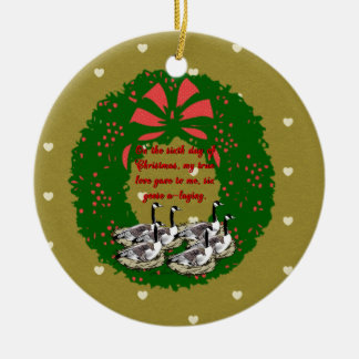 The Twelve Days of Christmas Collection: Day Six Ceramic Ornament