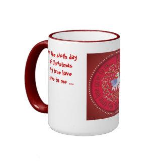The Twelve days of Christmas, Day 6 Ringer Mug