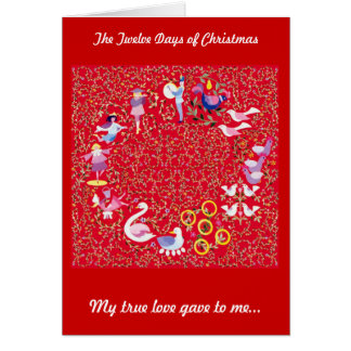 The Twelve Days of Christmas, First day Card