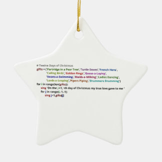 The Twelve Days of Christmas in Python Ornaments