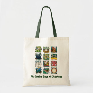 The Twelve Days of Christmas Tote Canvas Bag