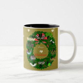 The Twelve Days of Christmas Two-Tone Coffee Mug