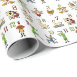 The Twelve Days of Christmas Wrapping Paper