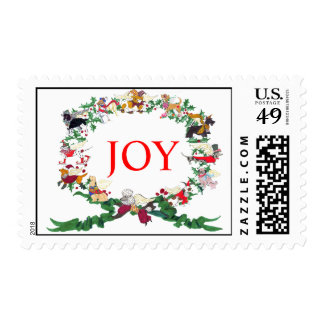 The Twelve Dogs of Christmas Postage Stamp