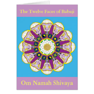 The Twelve Faces of Babaji Greeting Card