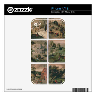 The Twelve Months of the Year: January, February, Decal For iPhone 4