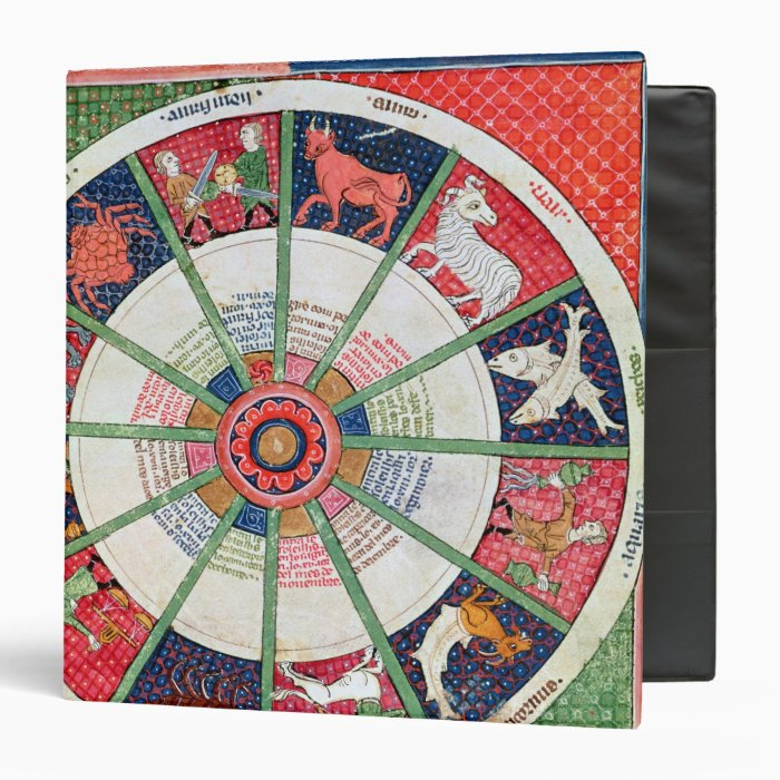 The Twelve Signs of the Zodiac and the Sun 3 Ring Binder