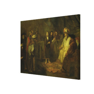 The Twelve Year Old Jesus in front of the Canvas Print