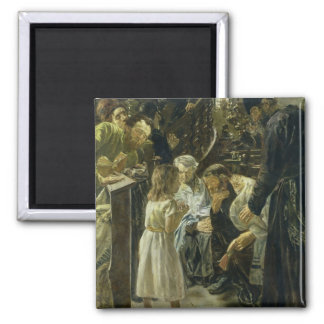 The Twelve-Year-Old Jesus in the Temple, 1879 2 Inch Square Magnet