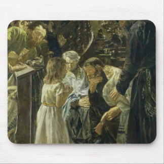 The Twelve-Year-Old Jesus in the Temple, 1879 Mouse Pad